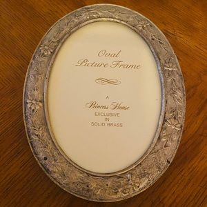 Princess House Oval Frame In Solid Brass 5x7